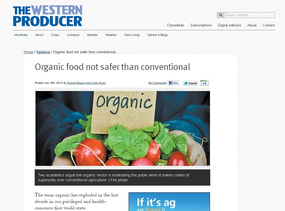 Is Organic Food Safer Than Conventional Food